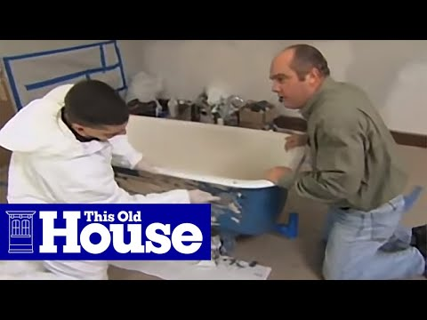 how to refinish a claw foot tub this old house youtube. Black Bedroom Furniture Sets. Home Design Ideas
