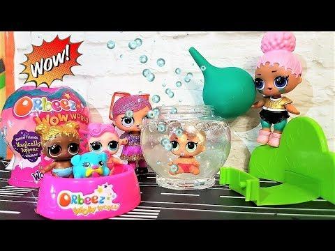 Куклы ЛОЛ Нашли ВОЛШЕБНЫХ ПИТОМЦЕВ WOWZERS! Шарики с Сюрпризом #ORBEEZ SURPRISE EGGS