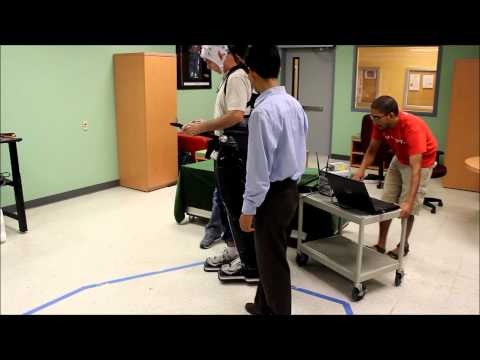 Demonstration of Rex Bionics Exoskeleton