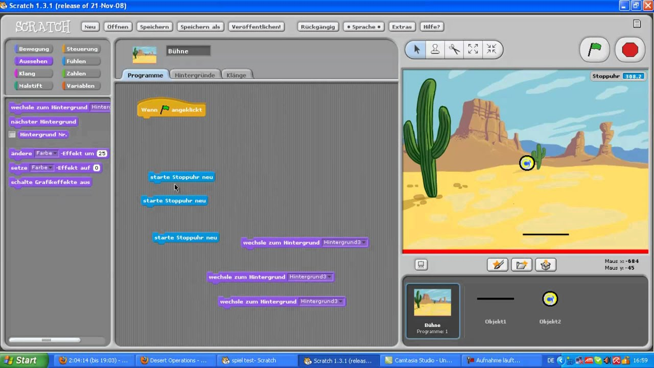 how to make score show on scratch