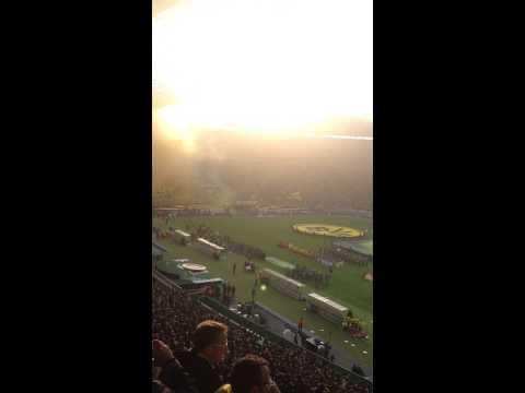 Dortmund Fans Pyro Wolfsburg Pyro Choreo Fans
