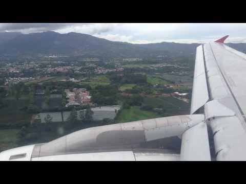 Taca Landing in Costa Rica | Taca Aterrizaje en Costa Rica
