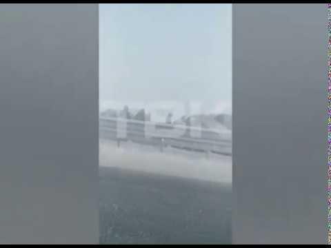 Под Красноярском из за смога произошло массовое ДТП