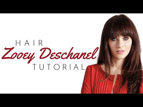Zooey Deschanel Bangs Tutorial TheSalonGuy