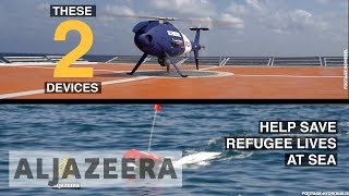 Rescuing refugees with drones and robot boats