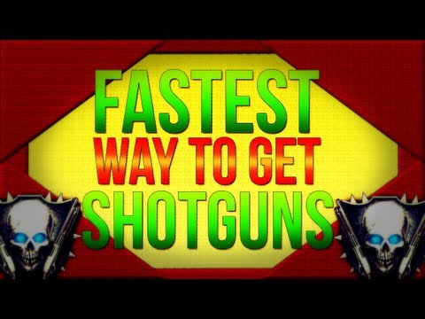 Black Ops 2 Zombies l Ranking System - Fastest Way How To Get Shotguns / Max Rank!