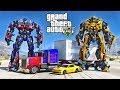 OPTIMUS PRIME VS BUMBLEBEE - ULTIMATE GTA 5 TRANSFORMERS MOD !!!