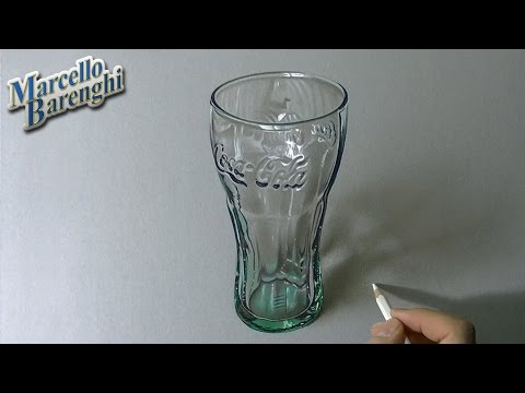 Drawing Time Lapse: Coca Cola Green Glass - hyperrealistic art