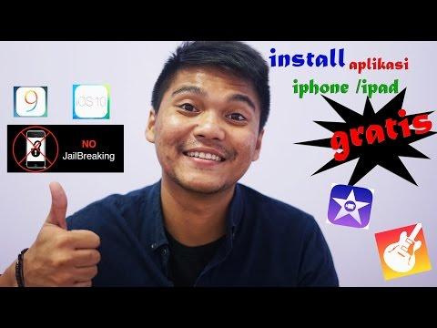 instal aplikasi iphone / ipad berbayar ios 9 , 10 gratis garageband , imovie  ( no jailbrake )