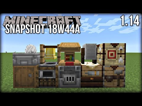 Minecraft 1.14 Snapshot 18w44a - NEW Blocks! Stonecutter, Lectern & MORE!