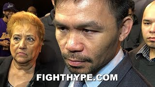 """PACQUIAO REVEALS WHAT THURMAN TOLD HIM DURING FACE OFF; RESPONDS TO TRASH TALK: """"PROVE IT"""""""