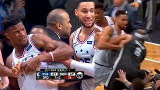 Jared Dudley wanna fight entire Sixers team | Nets vs Sixers - Game 4