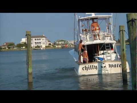 A day on The Atlantic Ocean with The Chilly Water, a 43′ Jarrett Bay.