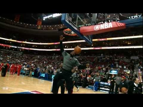 The Best of LeBron's Pre-Game Dunks