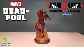 Unboxing Deadpool PVC Diorama - Diamond Selected Toys
