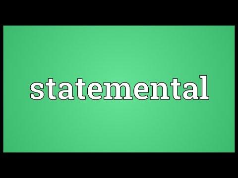 Header of Statemental