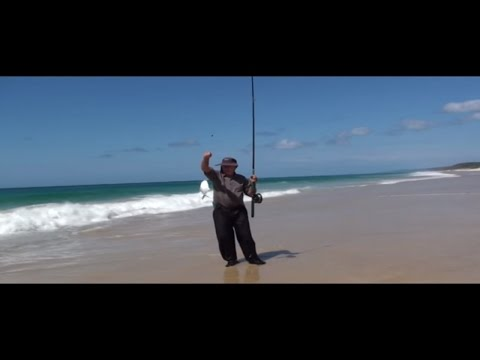 Beach Fishing with Nev Burton on the Sunshine Coast Queensland Australia