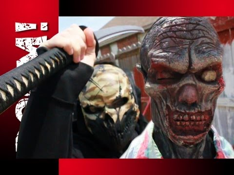 INSANE KATANA ZOMBIE DECAPITATION! New ballistic heads!