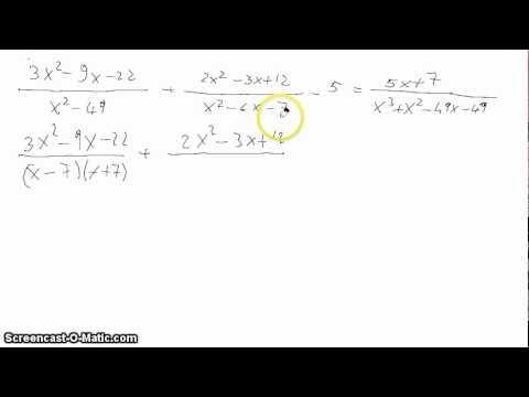 Equazioni di primo grado - Tavola di tracciamento secondo grado ...