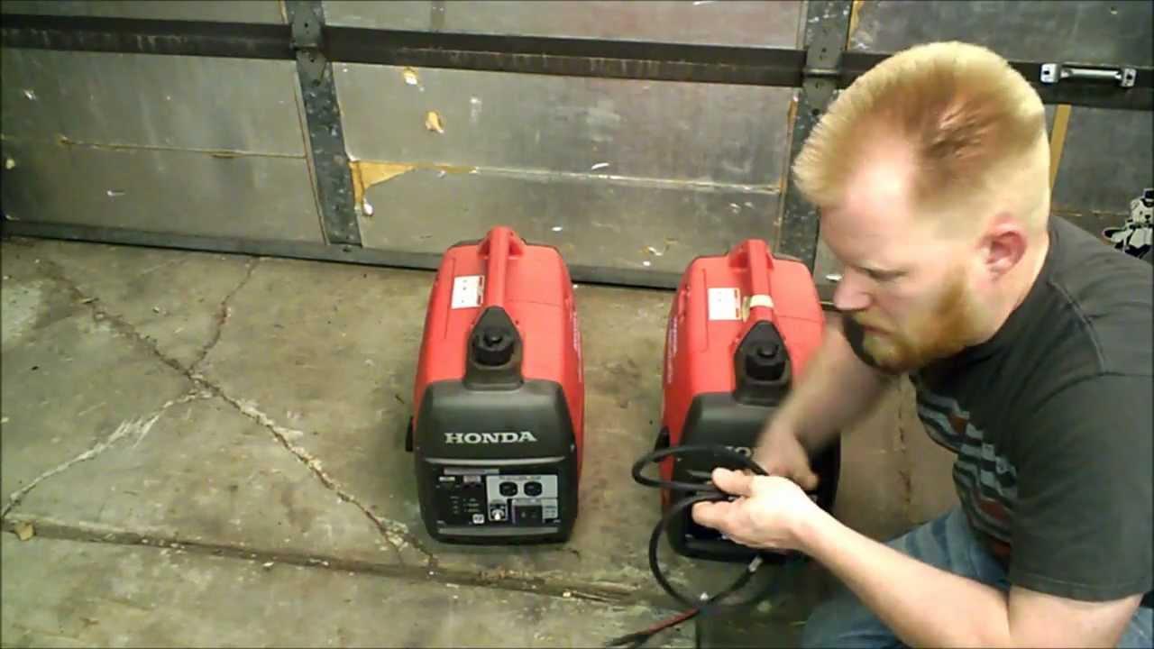 Homemade a honda eu i parallel kit generator youtube