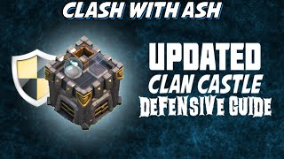 Clash Of Clans | Updated Clan Castle Defensive Guide for New Poison Spell Changes