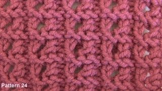 Lace Knitting Stitches - Free Knitting Patterns- Watch Knitting- Stitch 24