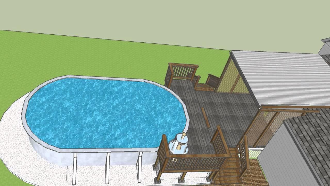 Google sketchup deck addition design pt 1 youtube for Sketchup deck design