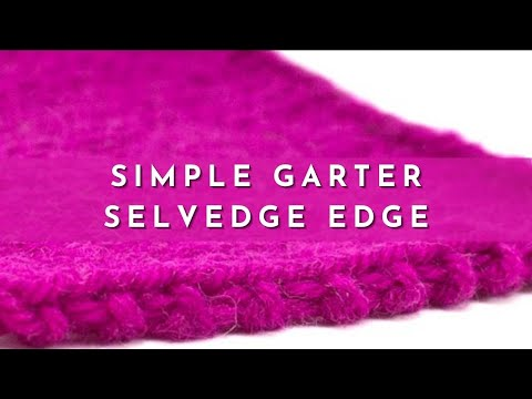 How to knit the simple garter selvedge edge youtube for Simple edge