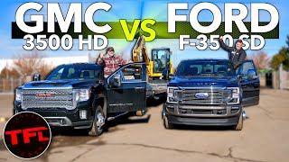 30,000 Lbs Monster Tow Test: 2020 Ford F-350 vs GMC Sierra 3500 - Drag Racing & Tow Off!
