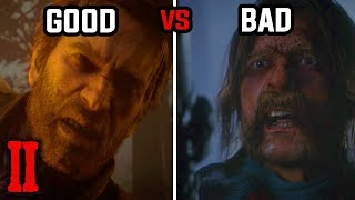 All Good vs Bad Ending (All High and Low Honor Endings) - Red Dead Redemption 2