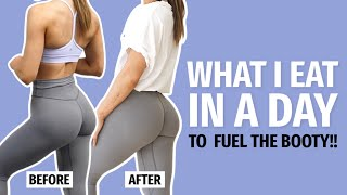 WHAT I EAT IN A DAY TO  FUEL THE BOOTY!! | KRISSY CELA