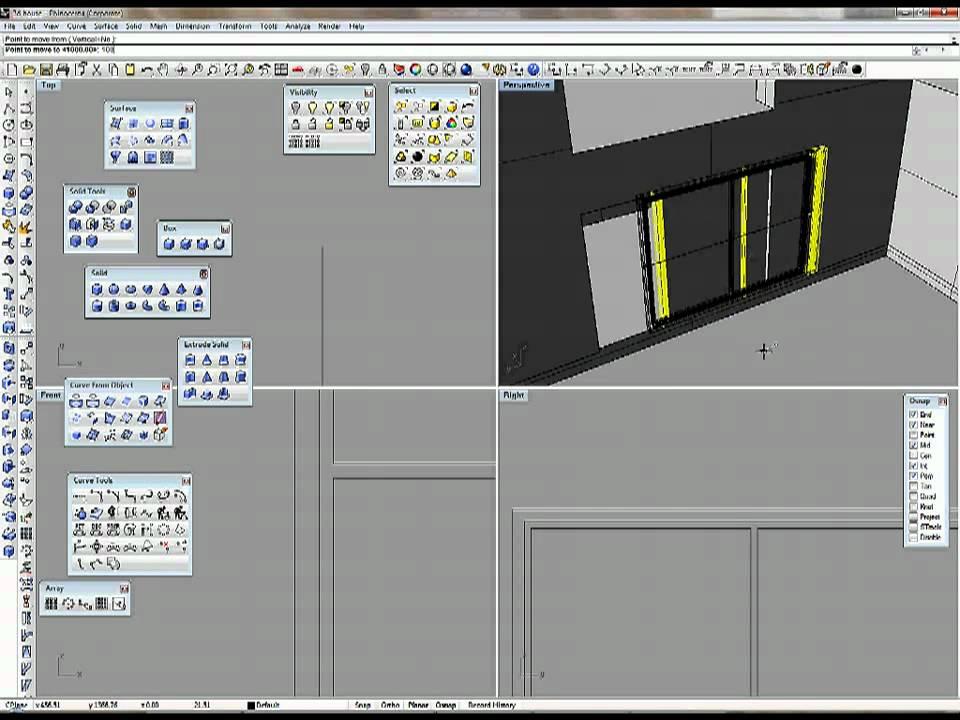 Create 3d House Part 2 1 Make 3d Model In Rhino Youtube
