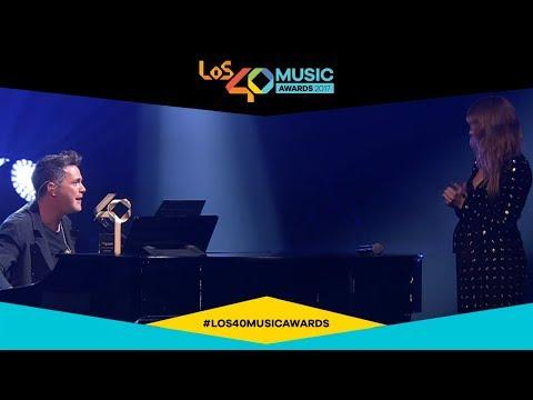 Alejandro Sanz  y Silvia Abascal, el momento más emotivo de LOS40 MUSIC AWARDS
