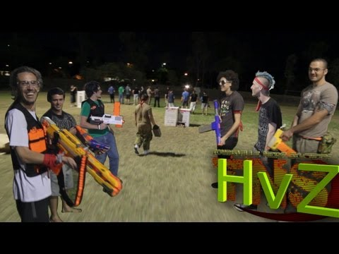 TNS Nerf War - Humans vs Zombies Rnd 1 | 2012 October