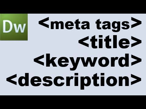 Dreamweaver Tutorial: Meta Tags and Search Engine Optimization -HD-