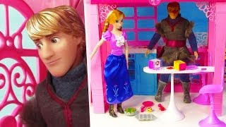 Barbie Glam Vacation MESSY House Disney Frozen Princess Anna Kristoff Home Doll Playset Review