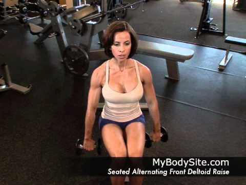 Online Personal Training - Shoulders - Seated Alternating Front Deltoid Raise