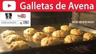 GALLETAS DE AVENA ❤️ Vicky Receta Facil