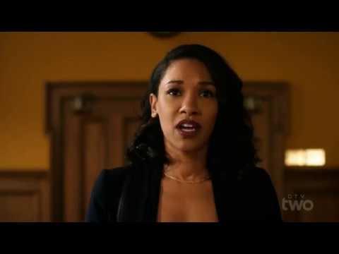Айрис врывается и хочет рассказать всем, что Барри - Флэш. Флэш 4 сезон 10 серия