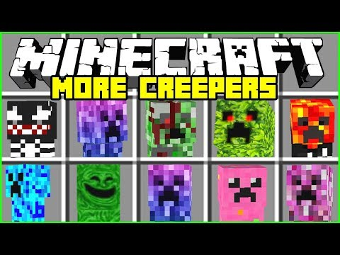 Minecraft CREEPER MOD / SPAWN AND FIGHT THE BIG EVIL CREEPERS!! Minecraft