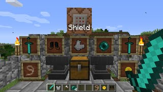 Minecraft Knight Class Command PVP(Working Shield&Amulet in Vanilla minecraft!)