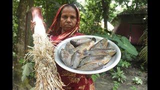 Village food Climbing perch water taro curry | Farm fresh water taro fish recipe