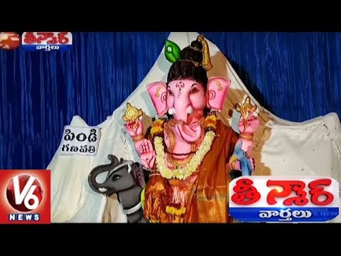 Different Types Of Ganesh Idols Attract People | Teenmaar News