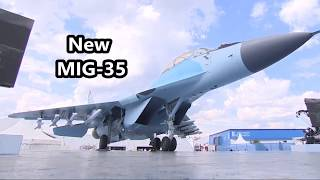The New Russian MIG-35 During a Demonstration Flight at the MAKS 2017 .