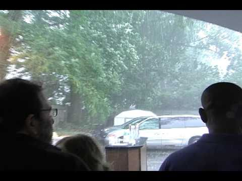 Hail Storm in Summit during Burger Fest.