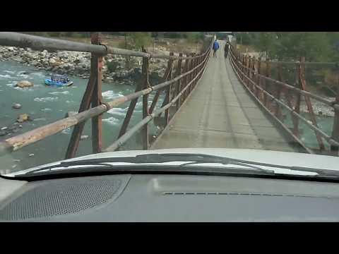 Most Narrow Bridge on Beas River near Kais, Himachal Pradesh