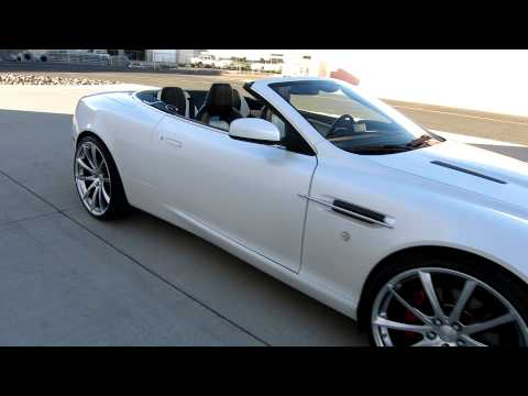 2009 Aston Martin DB9 Volante RARE COLOR WHITE Custom ACE Convex 22inch Wheels