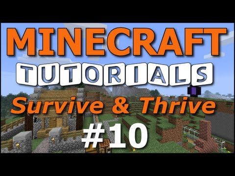 Minecraft Tutorials - E10 Chicken Farm, Fishing (Survive and Thrive II)