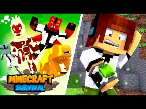 Minecraft Survival #04 - AUTHENTIC VIROU O BEN 10 !!