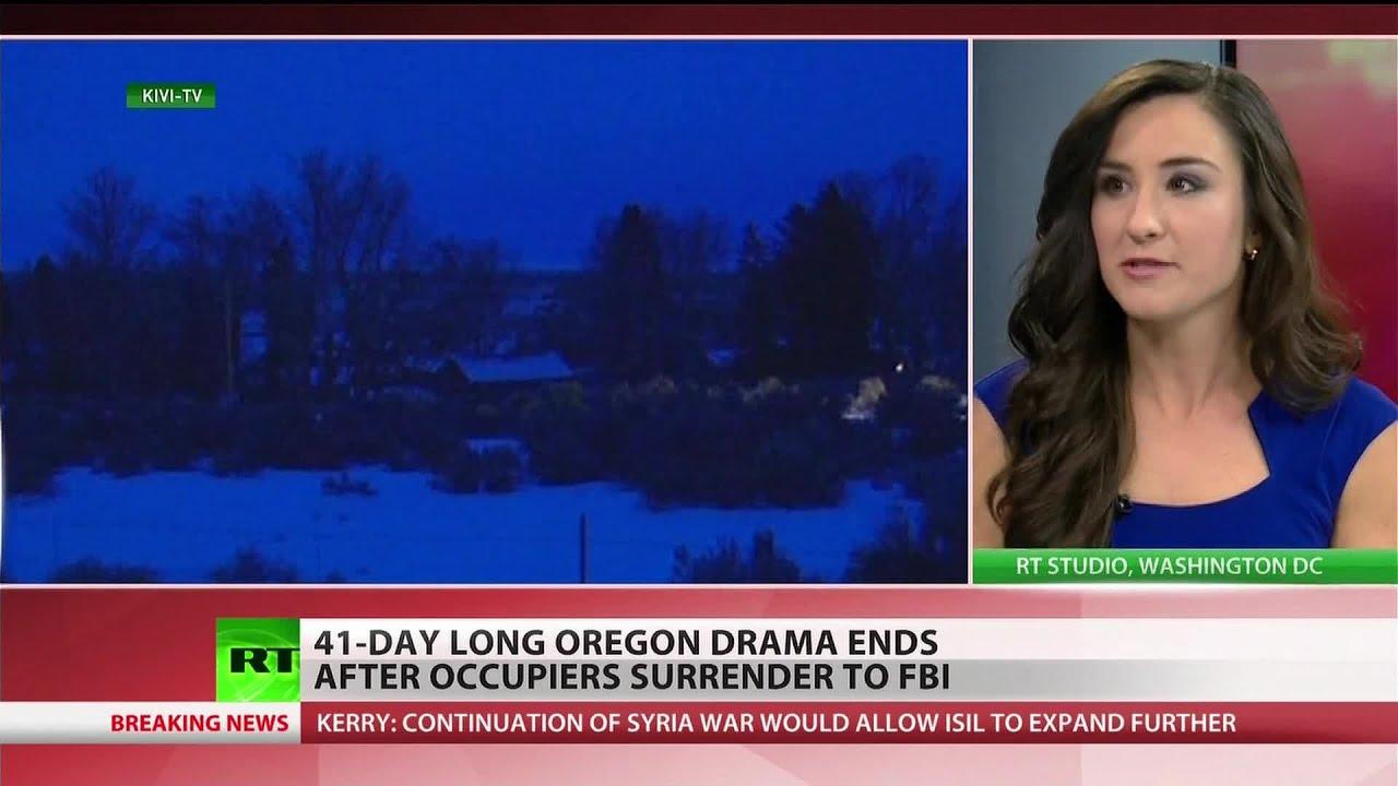Final occupiers in Oregon standoff surrender